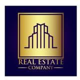 Логотип холдинг-компании недвижимости стоковая фотография