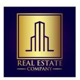 Логотип холдинг-компании недвижимости стоковые изображения