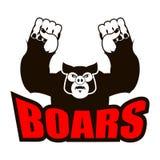 Логотип хряков для спортивной команды сердитая свинья Агрессивный дикий кабан gru бесплатная иллюстрация