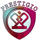 Логотип цвета Prestigio Стоковая Фотография RF