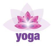 Логотип цветка лотоса йоги и раздумья Стоковое Фото