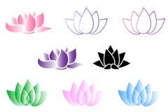 Логотип цветка лотоса иллюстрация штока