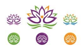 Логотип цветка лотоса Стоковое Изображение RF