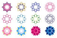 Логотип цветка лотоса Стоковые Изображения