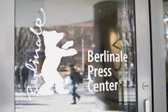 Логотип центра прессы Berlinale стоковые изображения rf