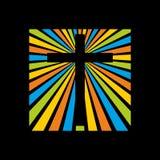 Логотип церков Крест Иисуса Христоса в лучах славы бесплатная иллюстрация