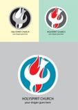 Логотип церков святого духа Стоковое Фото