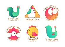 Логотип цыпленка Стоковое Изображение RF