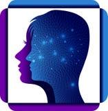 Логотип человеческой головы Techno Стоковые Изображения