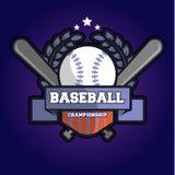 Логотип чемпионата бейсбола Стоковые Фотографии RF