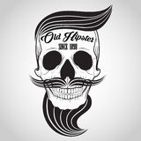 Логотип черепа битника Стоковые Фото