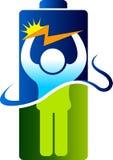 Логотип человека энергии силы иллюстрация вектора