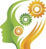 Логотип шестерни разума Стоковое Изображение RF