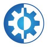 Логотип шестерни Стоковое Изображение RF