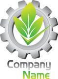 Логотип шестерни Eco бесплатная иллюстрация