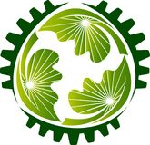 Логотип шестерни Eco Стоковое Изображение