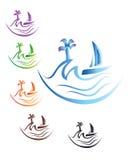 Логотип шлюпки Стоковые Изображения RF
