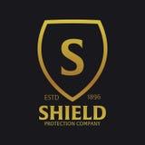 Логотип экрана Компания защиты Безопасность радетель также вектор иллюстрации притяжки corel иллюстрация штока