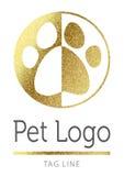 Логотип любимчика в золотом Стоковые Изображения RF