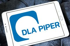 Логотип юридической фирмы волынщика DLA стоковые изображения