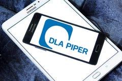 Логотип юридической фирмы волынщика DLA стоковое изображение rf