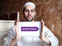 Логотип юридической фирмы Dentons стоковое изображение