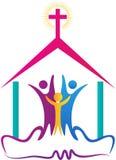 Логотип людей церков иллюстрация вектора