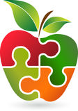 Логотип яблока головоломки Стоковое Изображение