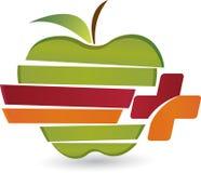 Логотип яблока заботы Стоковые Изображения