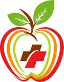 Логотип яблока здоровья Стоковое Изображение RF