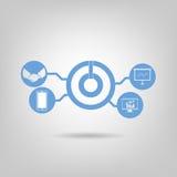 Логотип для его технология Стоковые Фото