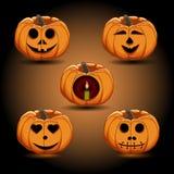 Логотип для желтой тыквы хеллоуина Стоковое Изображение