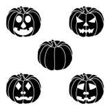 Логотип для желтой тыквы хеллоуина иллюстрация вектора
