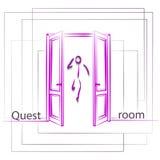Логотип для комнаты поисков Стоковая Фотография RF