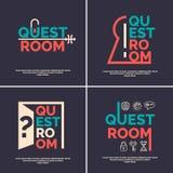 Логотип для комнаты поисков Стоковое Фото