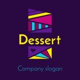 Логотип для компании которая производит десерты Стоковое Изображение RF