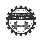 Логотип для клуба спорта атлетического Стоковое фото RF