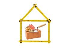 Логотип для дома и строительной фирмы Стоковые Изображения