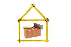 Логотип для дома и строительной фирмы Стоковое Фото