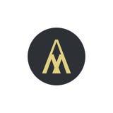 Логотип для письма a и m иллюстрация штока