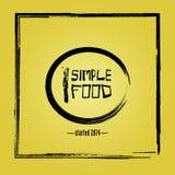 Логотип для ресторана Стоковое Изображение RF