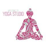 Логотип для студии йоги Стоковое Изображение