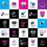 Логотип для студии фото иллюстрация вектора