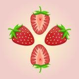 Логотип для темы клубники Стоковое Фото
