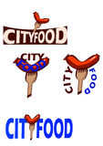 Логотип для цепей фаст-фуда Стоковое Изображение RF