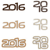 Логотип 2016 Стоковое Изображение RF