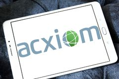 Логотип Acxiom Корпорации Стоковое Изображение