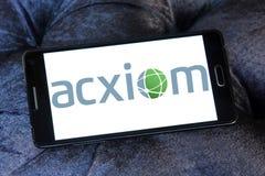 Логотип Acxiom Корпорации Стоковое фото RF