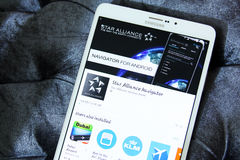 Логотип app союзничества звезды Стоковая Фотография
