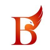 Логотип b инициала хоука вектора оранжевый Стоковое Изображение RF